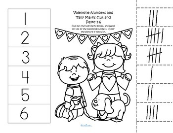 Valentine's Day Numbers - 2 cut and paste worksheets.