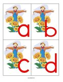 Scarecrows - letters lower case
