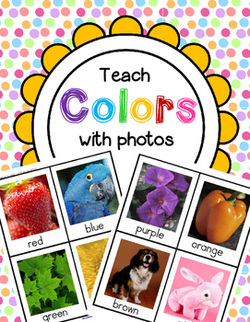 Teach colors with lots of activities made using bright real-life photos