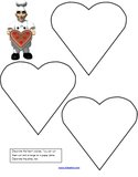 Decorate heart cookies preschool printable