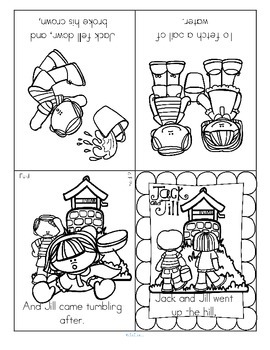 Two nursery rhymes foldable booklets – Jack and Jill, and Baa Baa Black Sheep