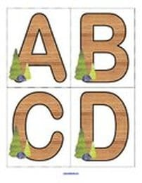 Camping/forest theme large alphabet  cards