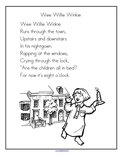 Wee Willie Winkie nursery rhyme printable.