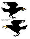 Scarecrows cutouts/puppets - crows