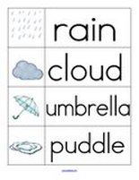 Word wall for rainy weather