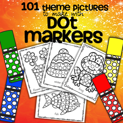101 preschool theme pictures to make with dot markers bingo daubers