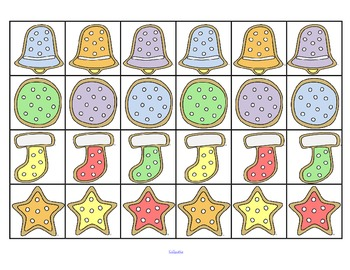 Christmas cookies cut and sort activity for preschool