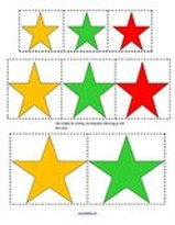 Christmas stars - sort by size and color
