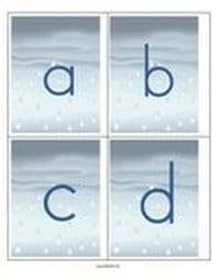 Rain letters flashcards