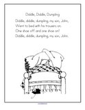 Diddle Diddle Dumpling nursery rhyme printable.