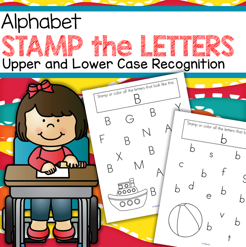 Alphabet recognition: Find the Letters! Stamp or cover the featured letters