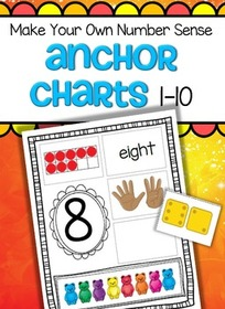 Cut and paste to make your own teddy bear number sense anchor charts 1-10.