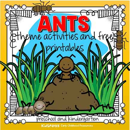 Ants theme activities for preschool