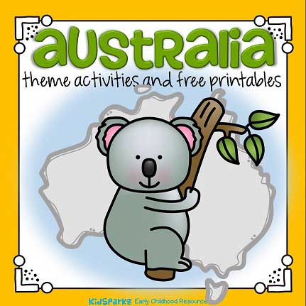 Australian animals theme activities and printables for preschool and kidergarten