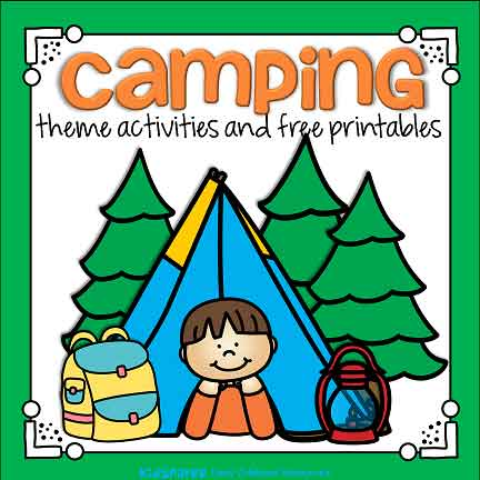 Camping preschool theme activities and printables