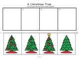 Christmas tree sequencing activity. Cut out trees and arrange in sequential order. I have included a color copy, a b/w copy, and a coloring page.