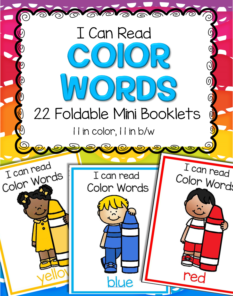 Foldable mini booklets to make for 11 colors in color and b/w