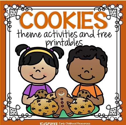 Cookies theme activities and printables for preschool and kindergarten