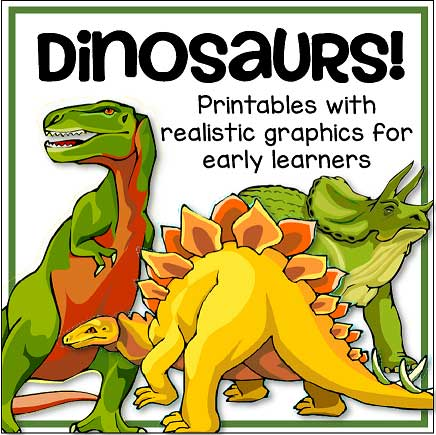 Dinosaurs Theme Activities And Printables For Preschool And Kindergarten -  KIDSPARKZ
