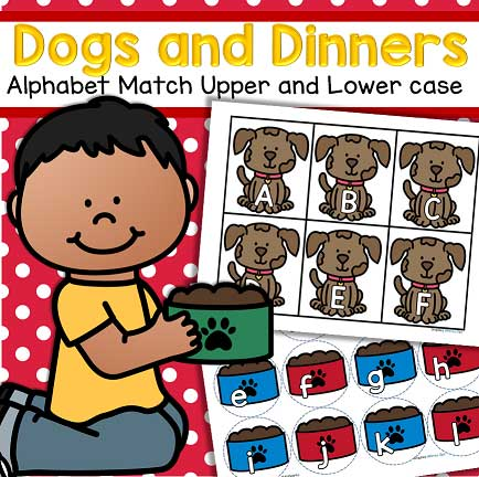 Alphabet center - match upper and lower case letters.