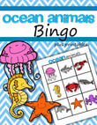 Ocean Animals Bingo plus printables