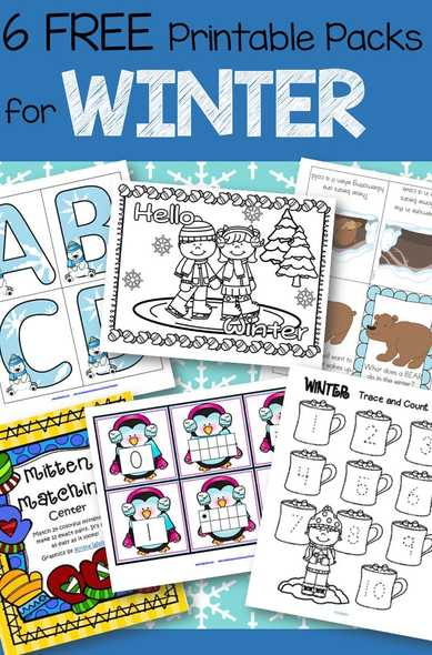 free winter printables at KidSparkz.com