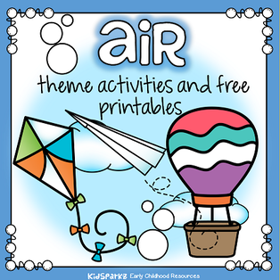 Air theme activities and printables for preschool and kindergarten