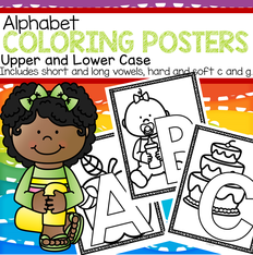 Alphabet coloring posters upper and lower case