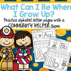 Community helpers for each letter of the alphabet