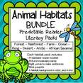 8 animal habitats predictable flip book packs bundle
