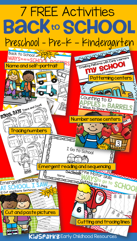 7 back to school activities for early learners - FREE!