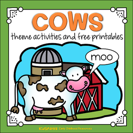 Cows theme activities and printables for preschool