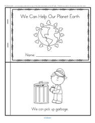 Earth Day informational emergent reader