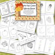 Fall color words emergent reader in b/w - 11 colors