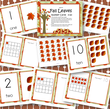 Fall leaves number cards 0-20 -  4 mix and match cards for each number