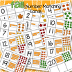 Fall leaves centers - cut out the cards - match numerals, 10-frames and groups of leaves to 20