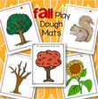 5 fall theme play dough mats