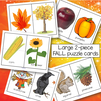 Fall puzzle cards - 5 pages, 10 large cards.