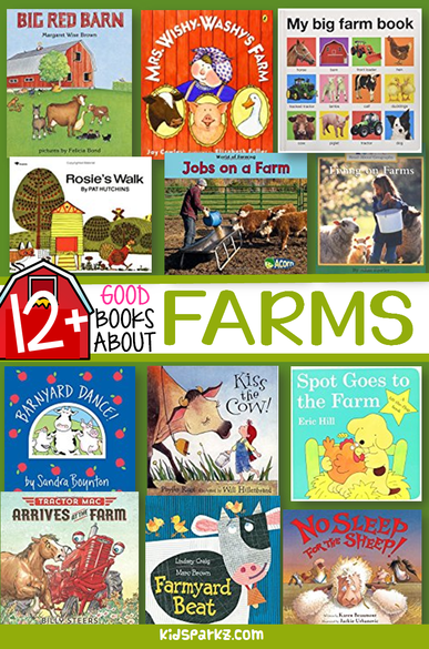 Picture book collection about farms and farm animals