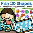 Match 9 fish 2D shapes into fish tank.