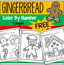 Gingerbread theme color by number 3 printable