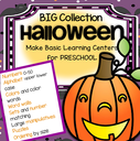 72 pages - make basic Halloween centers and learning activities for preschoolers