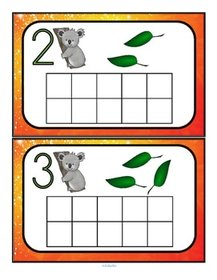 Counting mats for preschool at KidSparkz.com