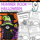 Make a Halloween Number Book 1-20, no prep. FREE to MEMBERS