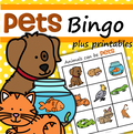 Pets bingo game plus supporting printables.