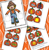 Scarecrow and pumpkins rhyming center. MEMBERS