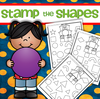 Stamp or color the matching shapes - 10 shapes, 10 pages.