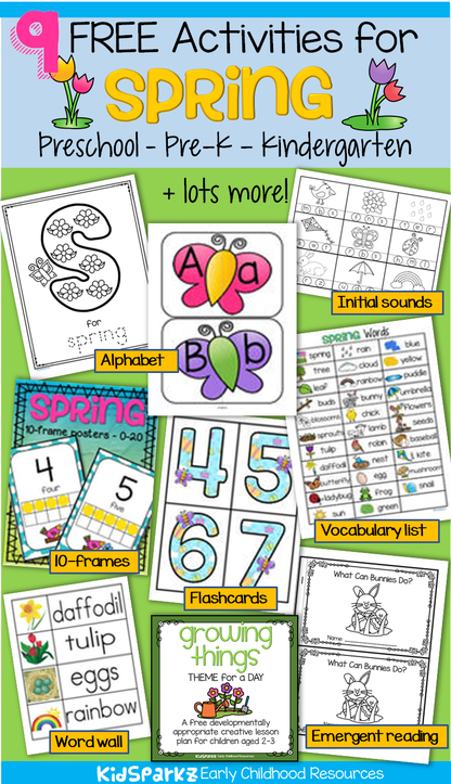 Free activities and printables for spring.