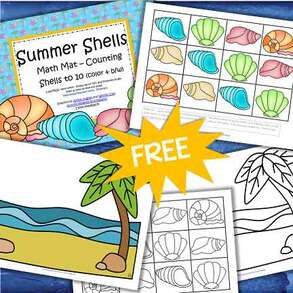 Summer shells free activity