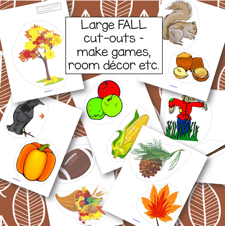 Large Fall manipulatives, 7 pages